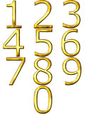 3D Golden Numbers Royalty Free Stock Images