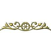 3D Golden Ornament Royalty Free Stock Photo