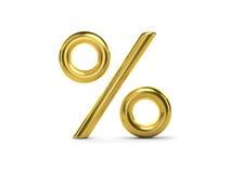 3D Golden Percent Royalty Free Stock Image