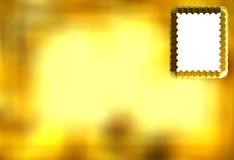 3D Golden Postcard Stock Photos