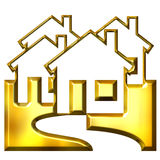 3D Golden Real Estate Stock Photography