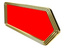 3d golden  red sign Stock Photography