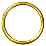 3D Golden Ring Royalty Free Stock Photography