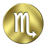 3D Golden Scorpio Stock Photo