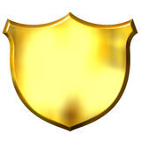 3D Golden Sign Royalty Free Stock Image