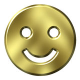 3D Golden Smiley Royalty Free Stock Image