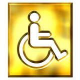 3D Golden Special Needs Sign Stock Photos