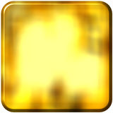 3D Golden Square with rounded edges Stock Photos