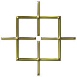 3D Golden Square Target Royalty Free Stock Images