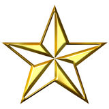 3D Golden Star Royalty Free Stock Photo