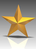 3D golden star Stock Photo
