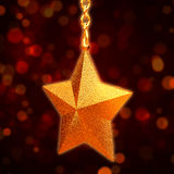 3d golden star with chains Royalty Free Stock Images