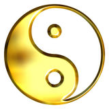 3D Golden Tao Symbol Stock Photos