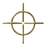 3D Golden Target Stock Photo