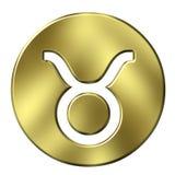 3D Golden Taurus Royalty Free Stock Photography