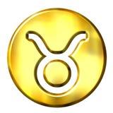 3D Golden Taurus Zodiac Sign Royalty Free Stock Photos