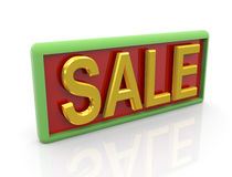 3d golden text sale Royalty Free Stock Photos