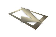 3d Golden Tick Sign Royalty Free Stock Photo