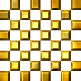 3D Golden Tiles. Isolated in white Royalty Free Stock Image