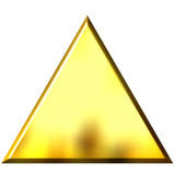 3D Golden Triangle Royalty Free Stock Image