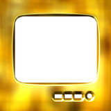 3D Golden TV Frame Royalty Free Stock Image