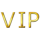 3D Golden VIP Royalty Free Stock Photos
