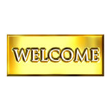 3D Golden Welcome Sign Royalty Free Stock Images