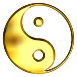 3D goldenes Tao Symbol Stockfotos