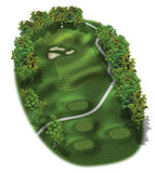 3D Golf Course Hole Layouts. Hole in one, par three Royalty Free Stock Photography