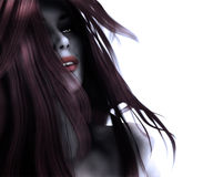 3d gothic woman Royalty Free Stock Photos