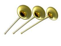 3D gouden fanfare stock illustratie
