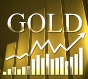 3D Gouden Grafiek Stock Fotografie