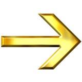 3D Gouden Pijl Stock Afbeeldingen