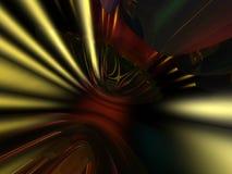 3D Gouden Rode Abstracte Achtergrond van het Behang Royalty-vrije Stock Foto's