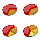 3D gráfico de sectores circulares 1 Fotografia de Stock