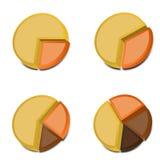 3D gráfico de sectores circulares 2 Foto de Stock Royalty Free