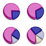 3D gráfico de sectores circulares 3 Foto de Stock