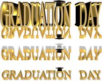 3d graduation text Royalty Free Stock Photography
