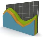 3D Grafiek van Gegevens over een net Royalty-vrije Stock Foto's