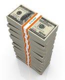 3d grandes piles de billets d'un dollar Photos stock