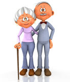 3D grandpa and grandma Stock Photos