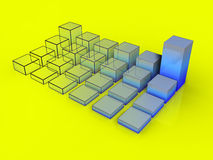 3d graph #1.  Royalty Free Stock Images