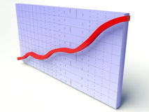 3D Graph Stock Photo