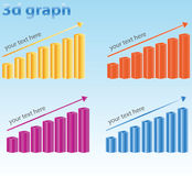 3d graph Royalty Free Stock Photography