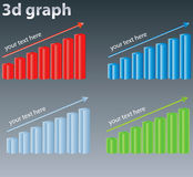 3d graph Royalty Free Stock Images