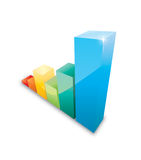 3d graph Royalty Free Stock Image