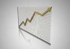 3d Graph with arrow Royalty Free Stock Images