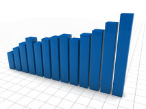 3d graph blue Stock Photography