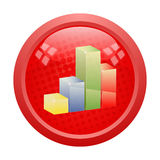 3D graph button Royalty Free Stock Photo