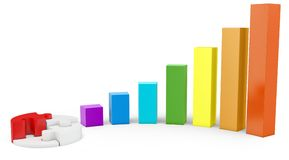 3d graph diagram bars Royalty Free Stock Image
